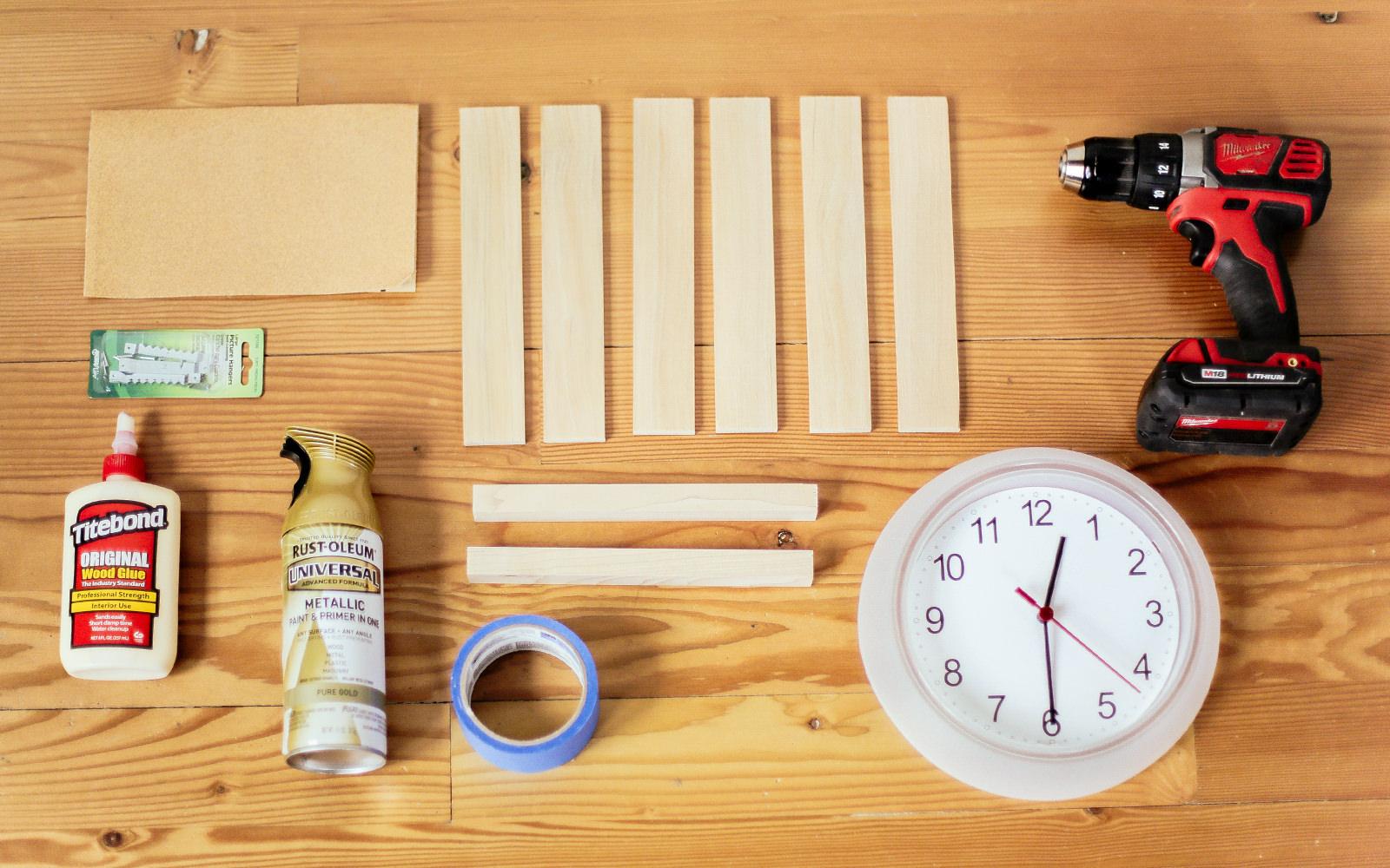 ikea clock hack materials