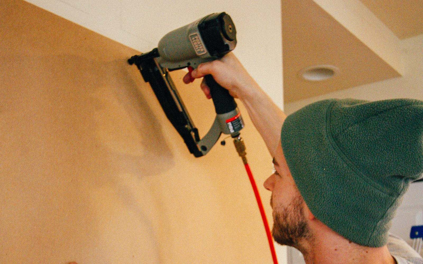 staple for board and batten wall