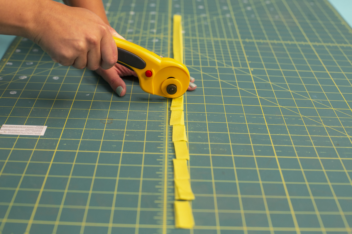 rotary cutter yellow felt