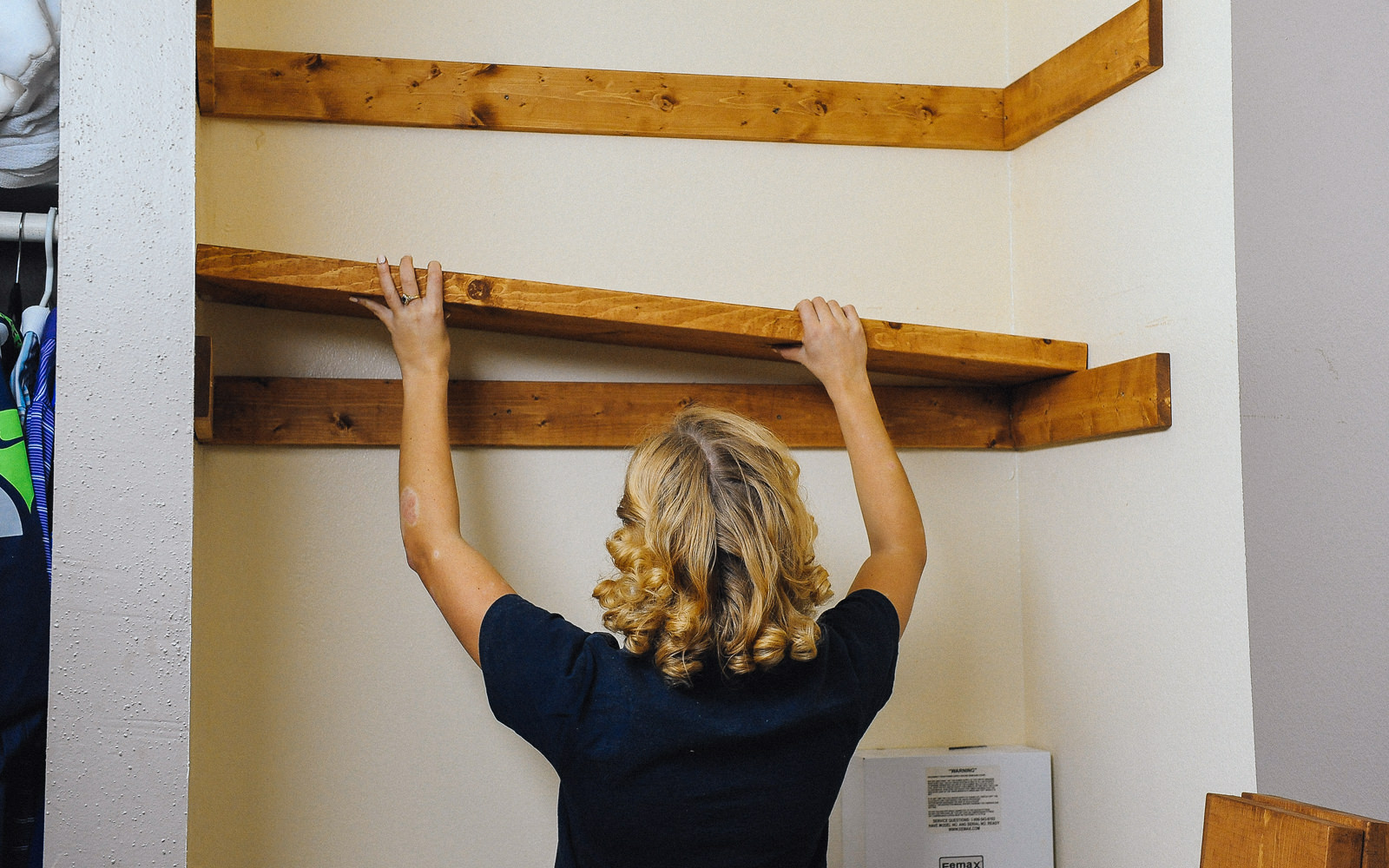 diy closet shelf installation