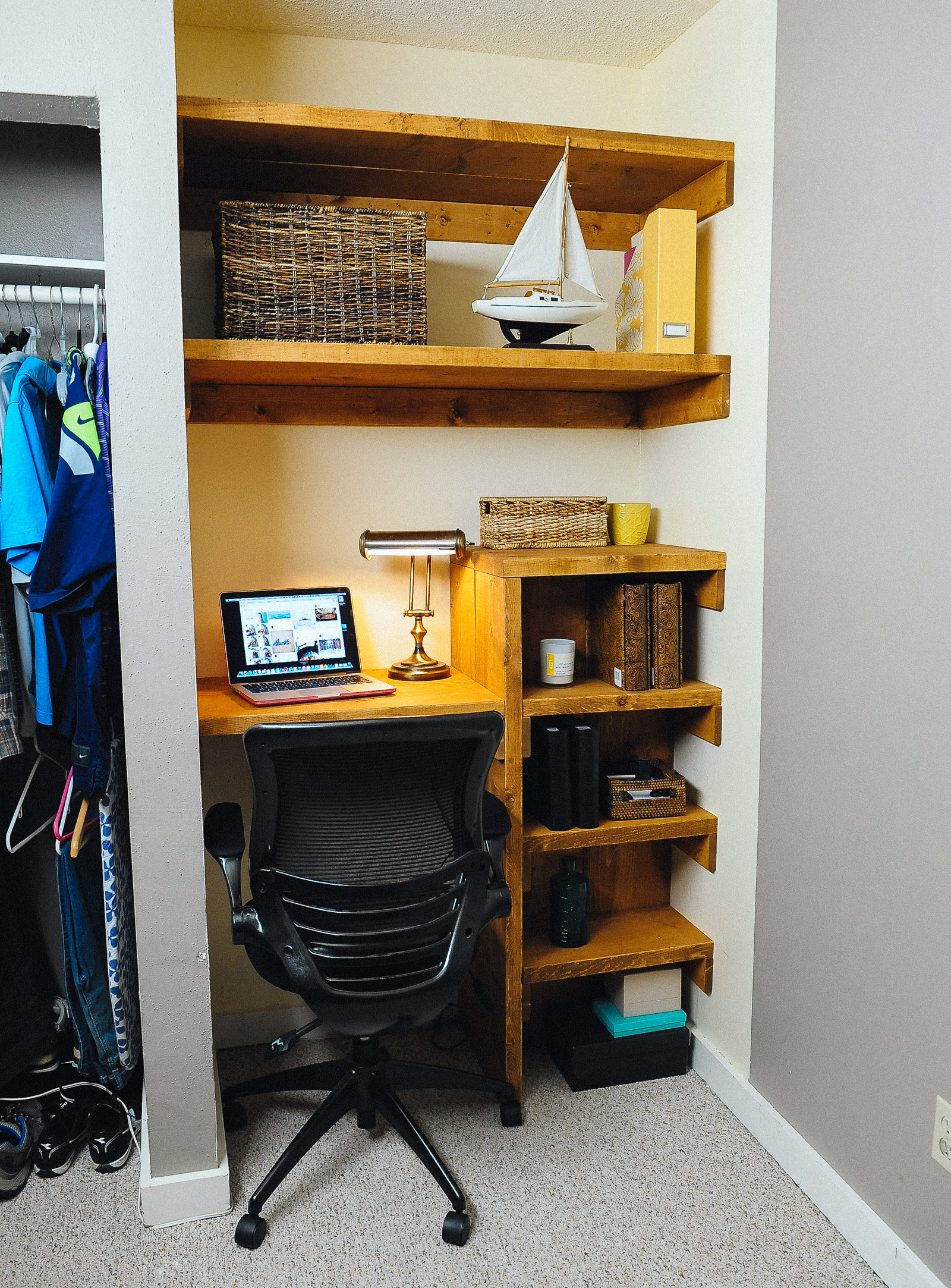 office closet shelving. Diy Closet Office Shelving