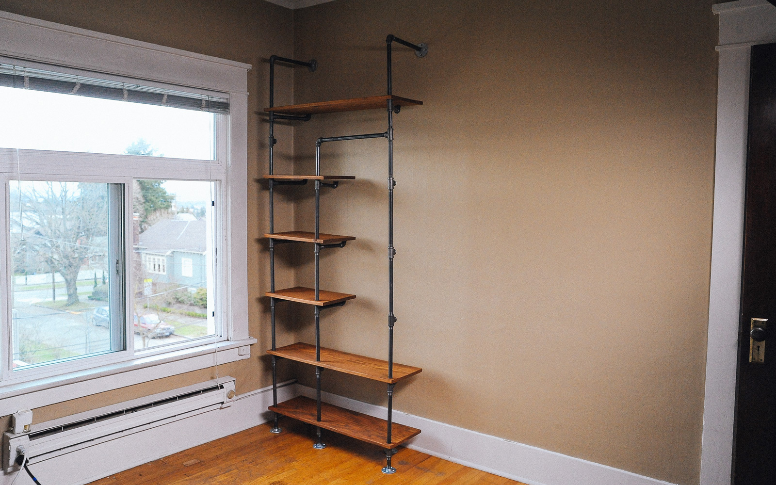 Before And After Gas Pipe Closet
