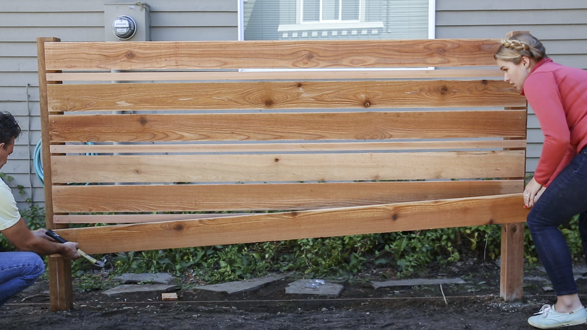 adding board to horizontal fence