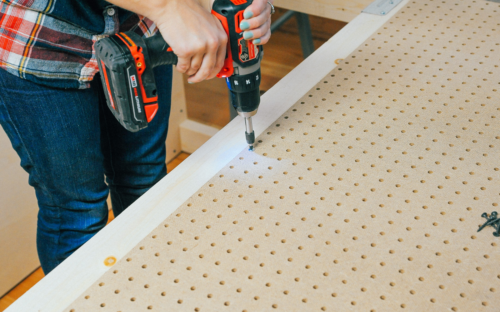 pegboard for diy workbench