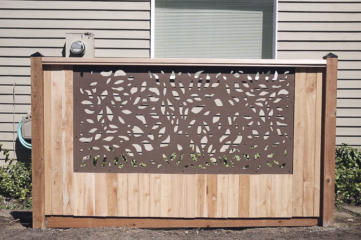 how to build a framed panel fence