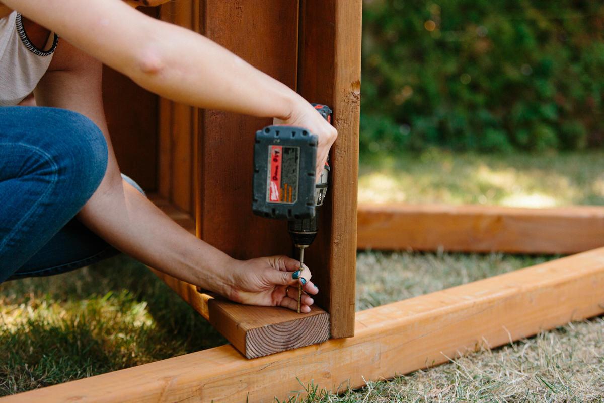 attach deck to A-frames