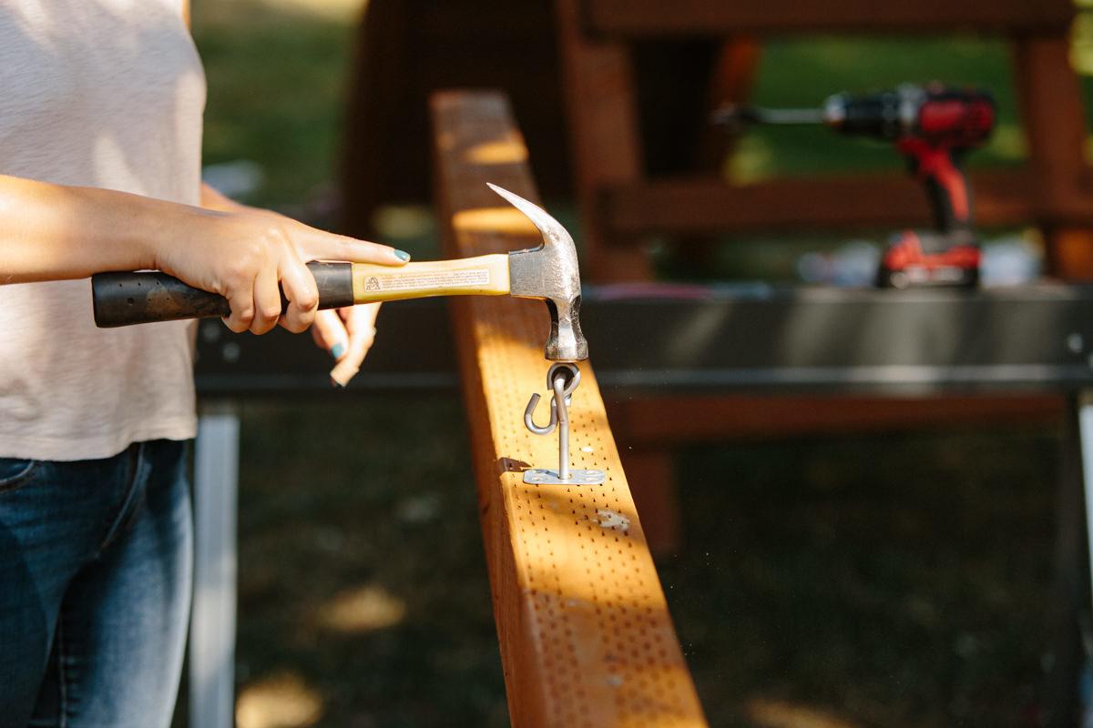 mount swing hangers to swing set