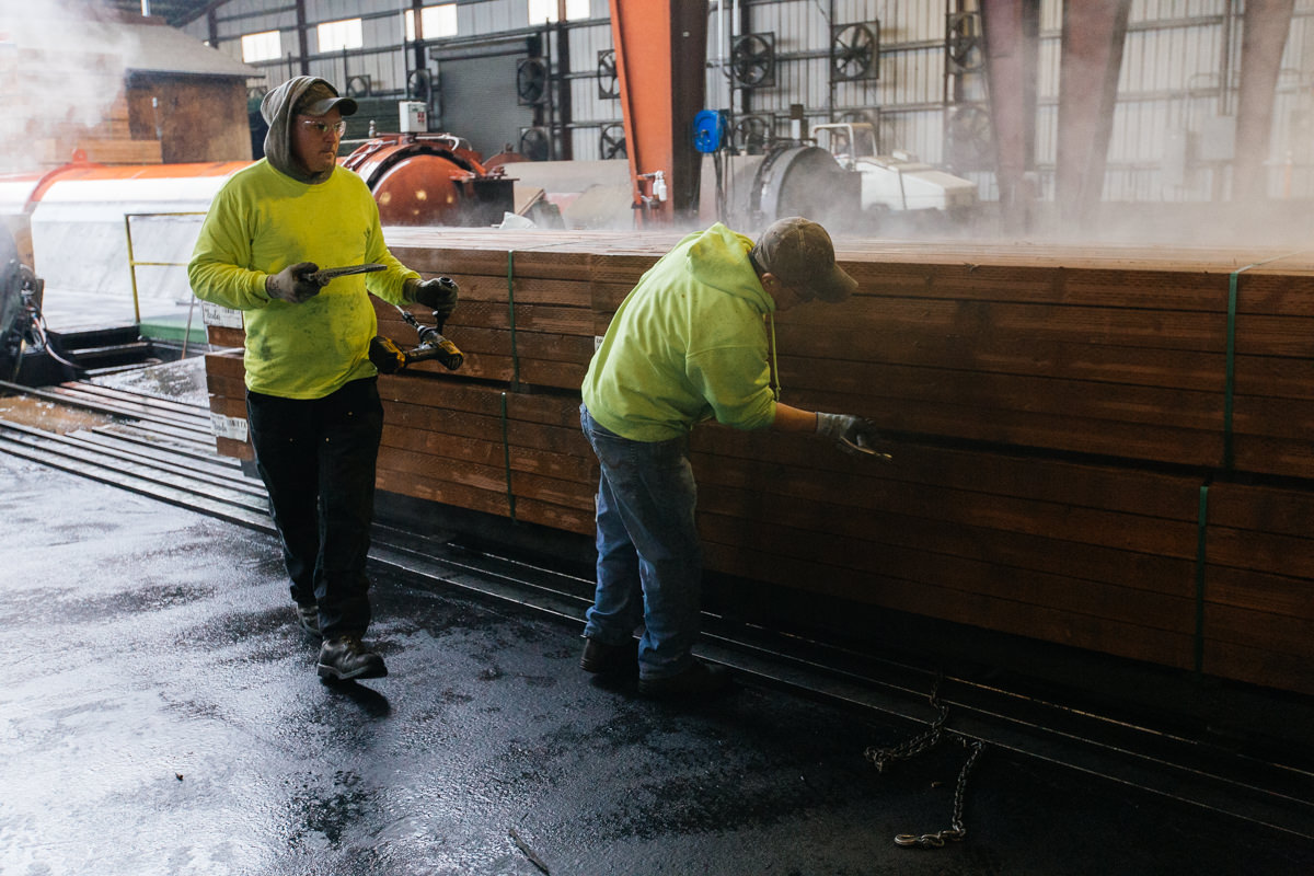 What wood treatments have been used in recent history