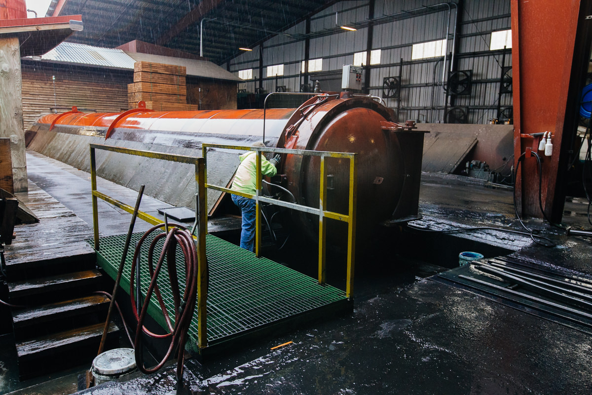 pressure treatment process for lumber