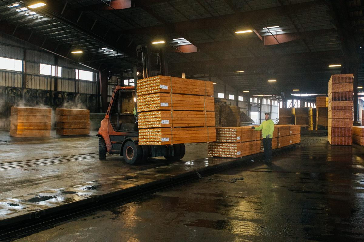 pressure treating lumber