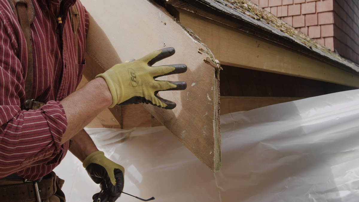 Dunn Lumber How to Replace Rotten Historic Gable End Fascia Tail Seattle WA 1