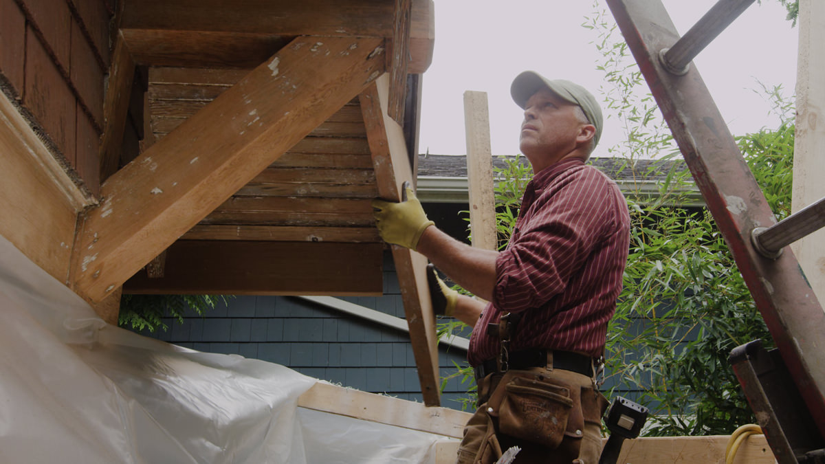 Dunn Lumber How to Replace Rotten Historic Gable End Fascia Tail Seattle WA 4