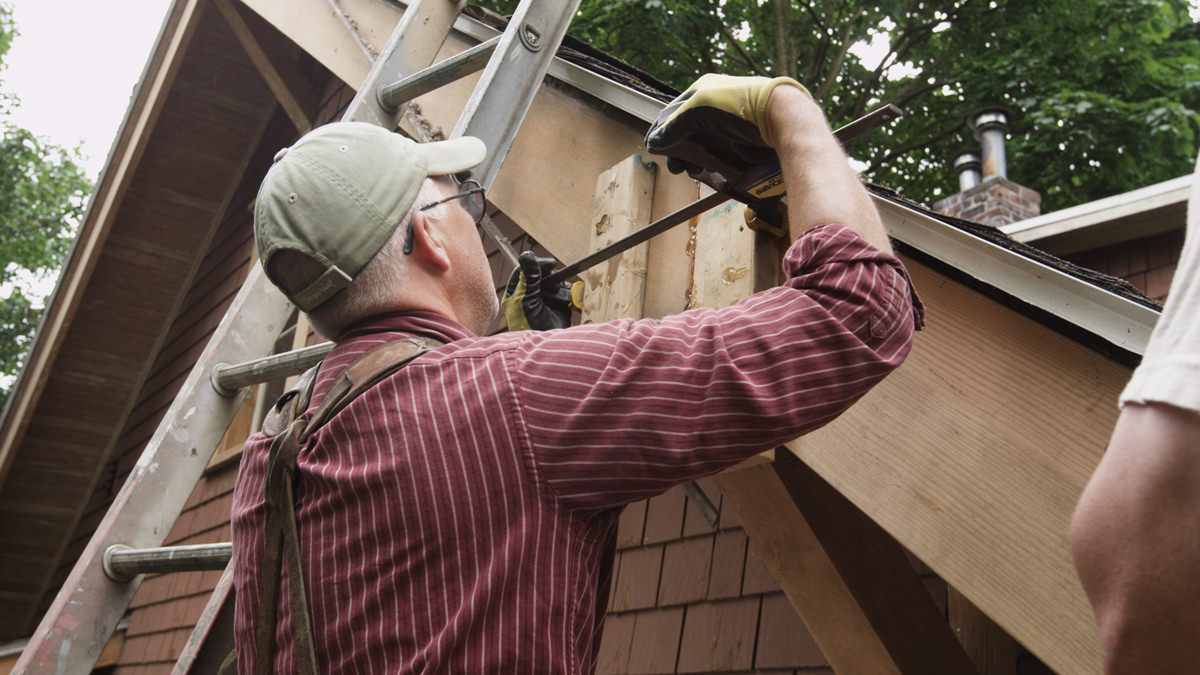 Dunn Lumber How to Replace Rotten Historic Gable End Fascia Tail Seattle WA 9