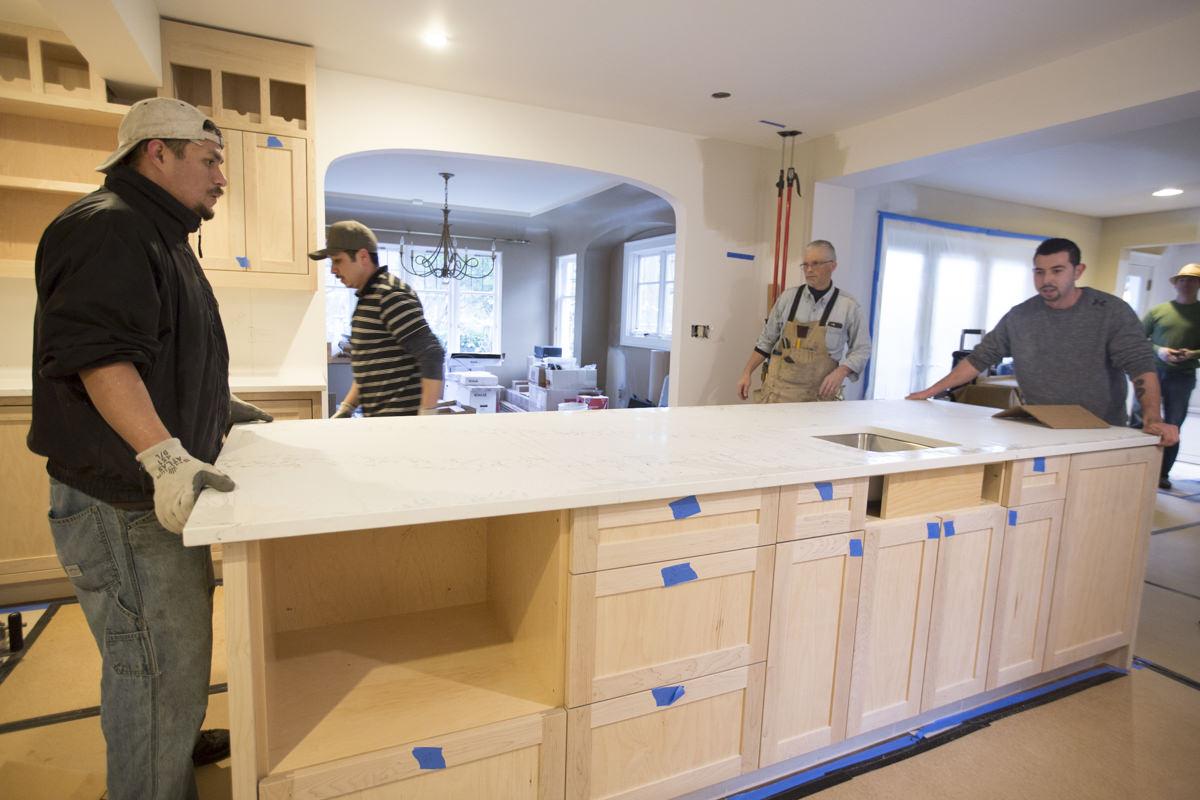 installing new kitchen