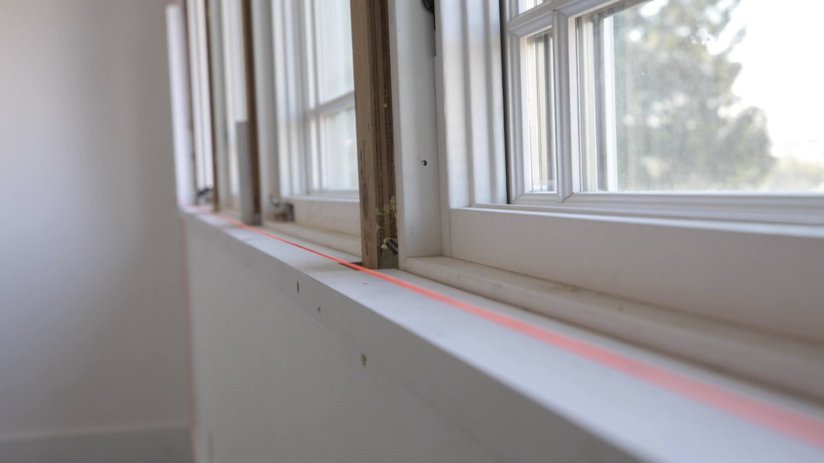 string line on window in historic home