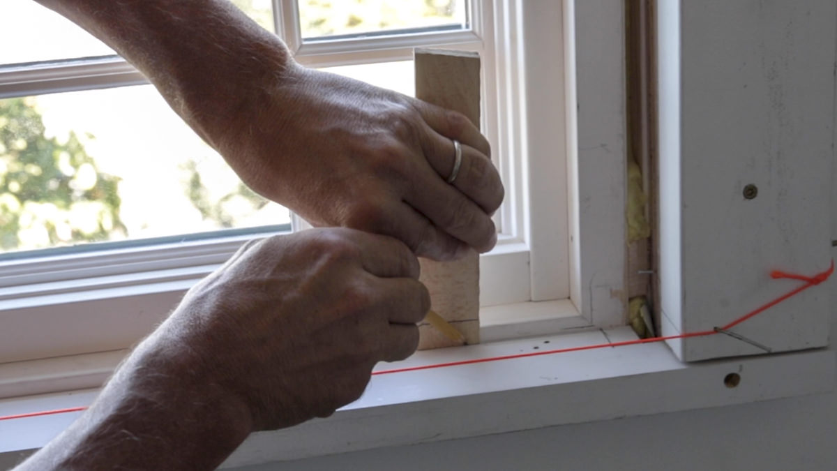 scribing windows for millwork