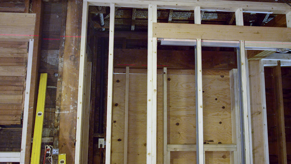 Dunn Lumber How to Place a Pocket Door Part 1 Framing Seattle WA 3