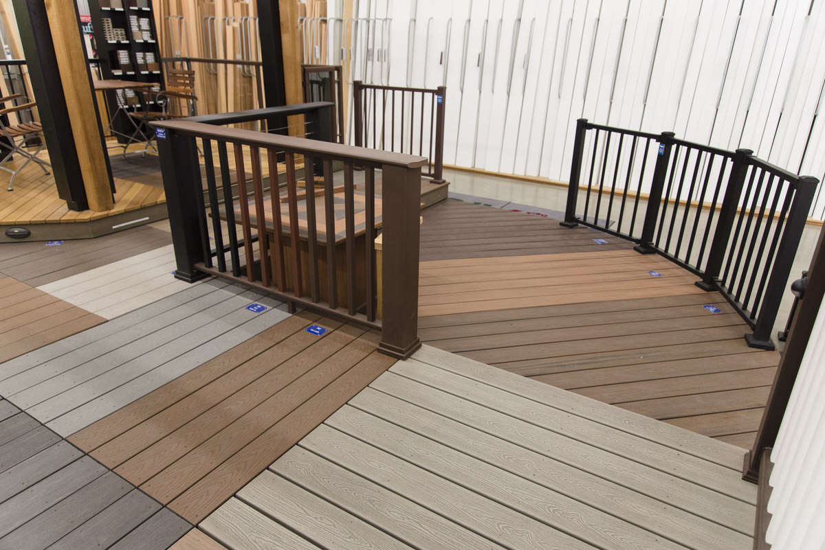 PVC decking showroom