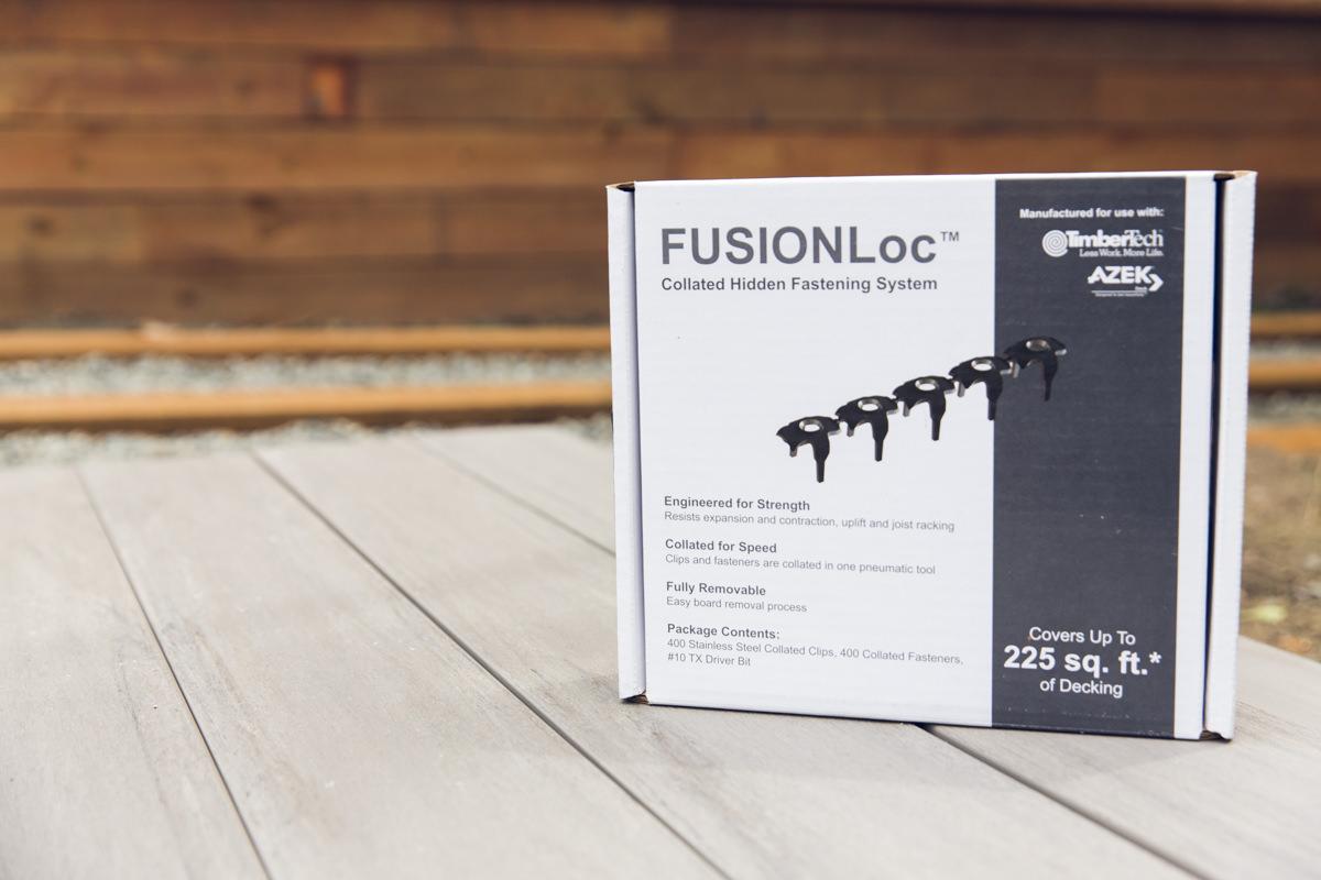 FUSIONLoc hidden fastener system
