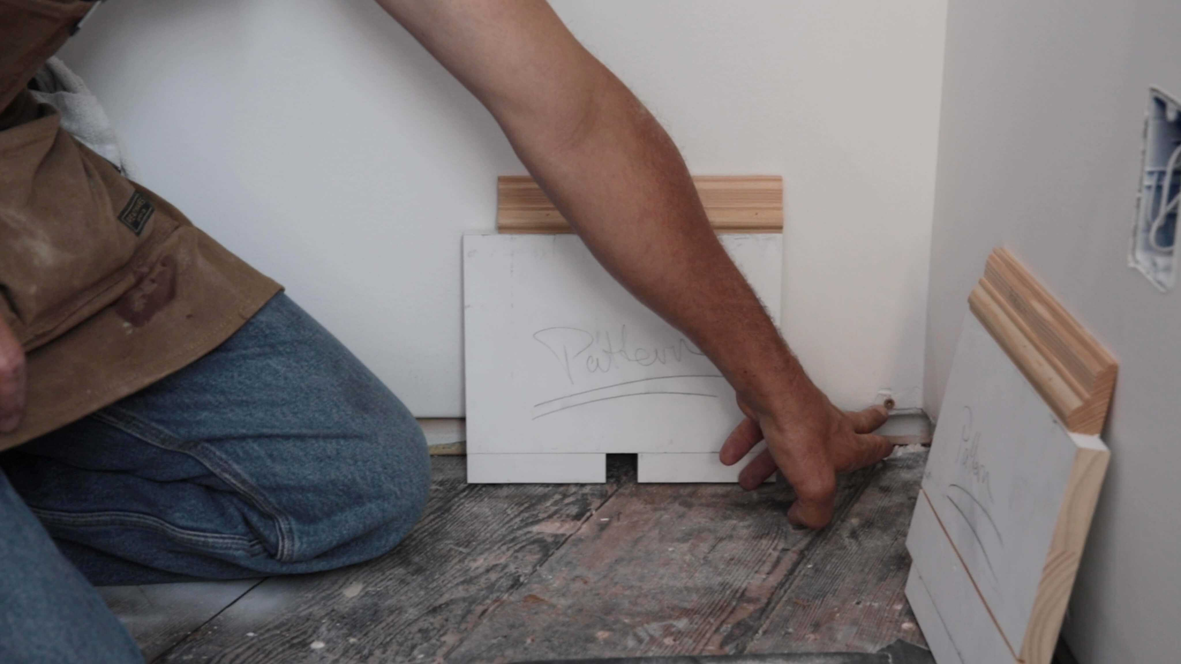 screw for tight baseboard corner joints