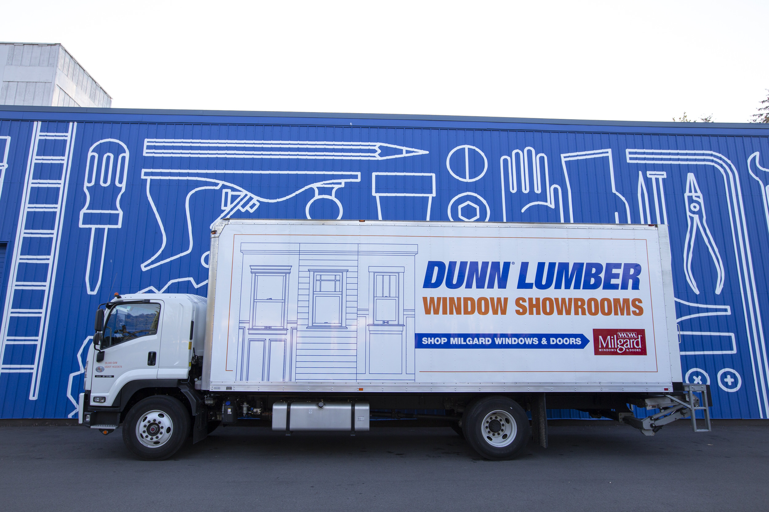 Dunn Lumber Delivery Truck for Hardware and Lumber
