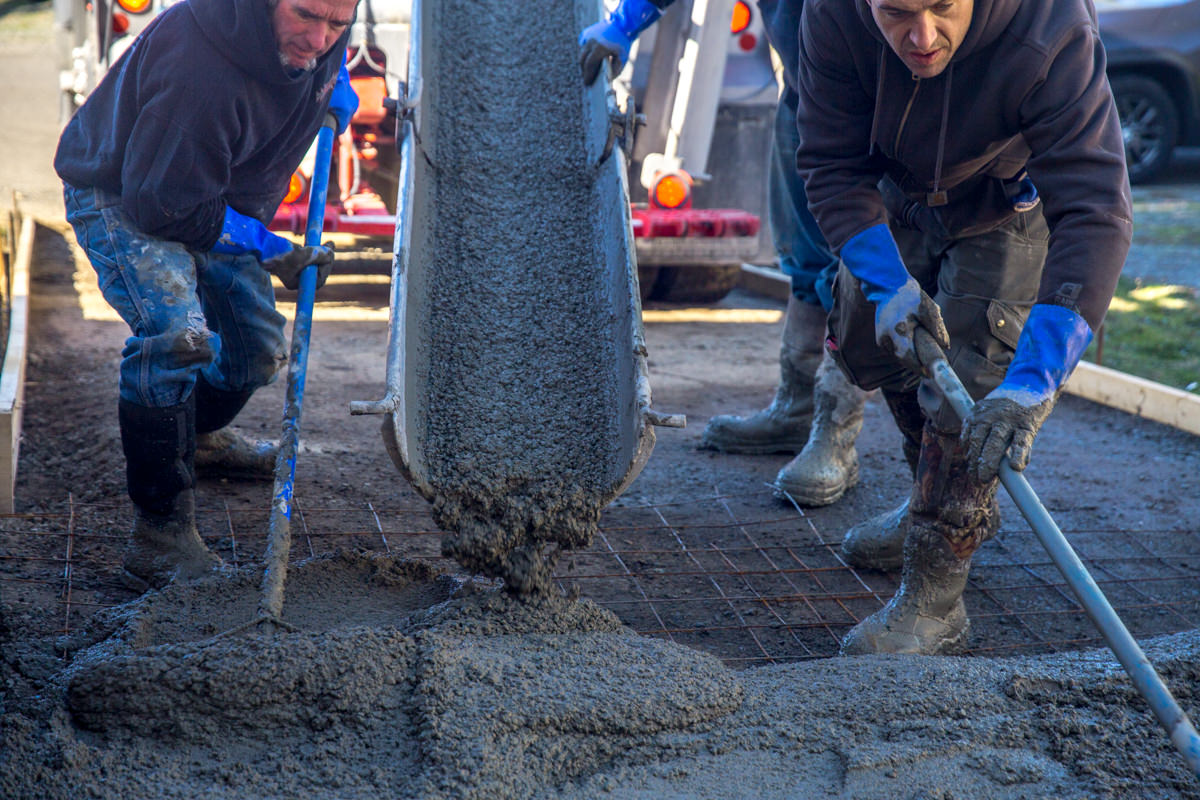 best practices for residential concrete pour