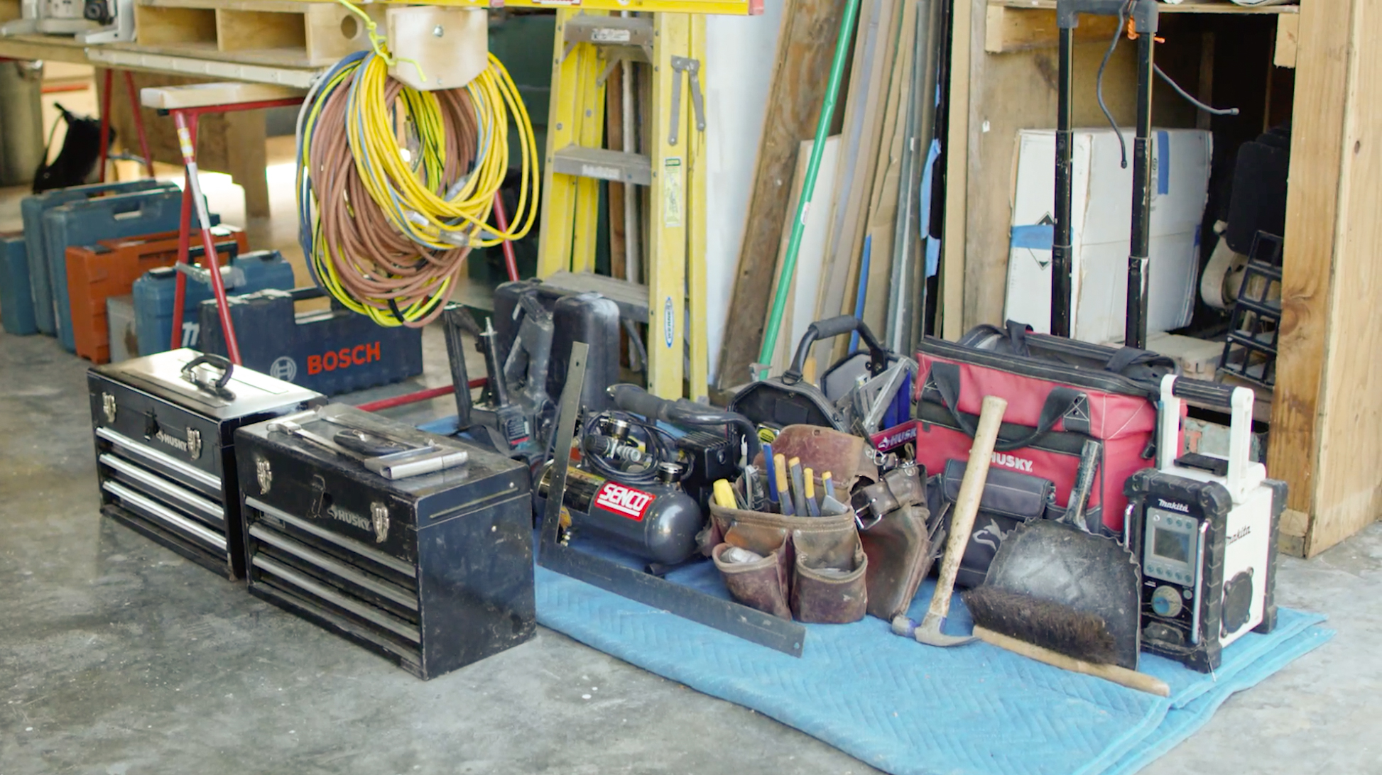 lay out all your tools