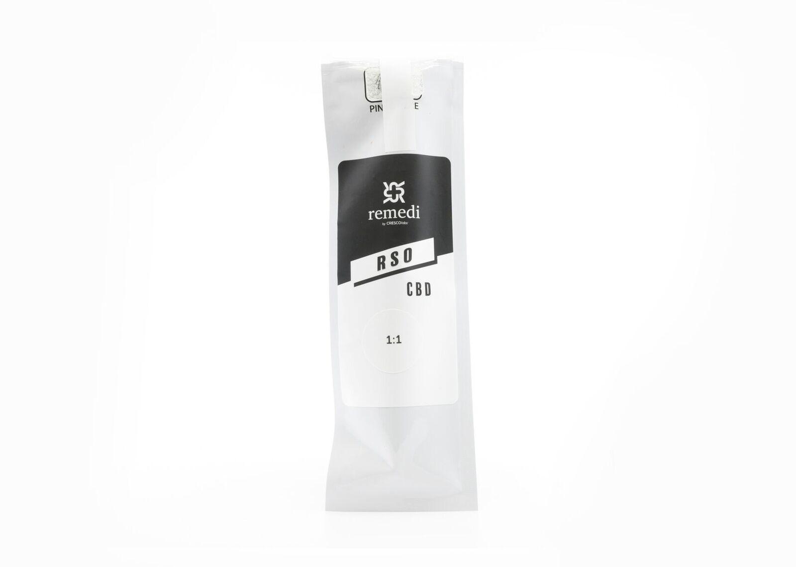 1:1 Harlequin 1000mg RSO Syringe   Remedi by Cresco Labs
