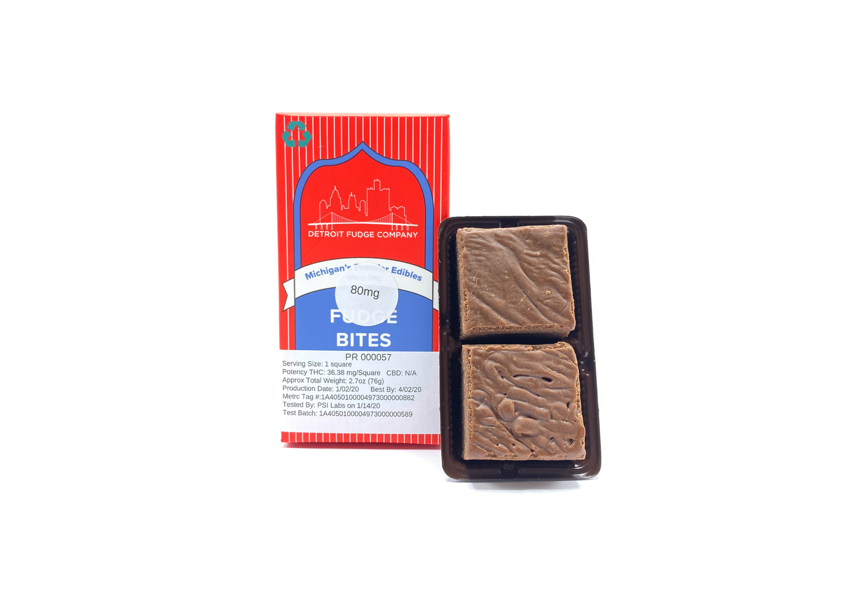 80mg Chocolate Fudge Bites | Detroit Fudge Company