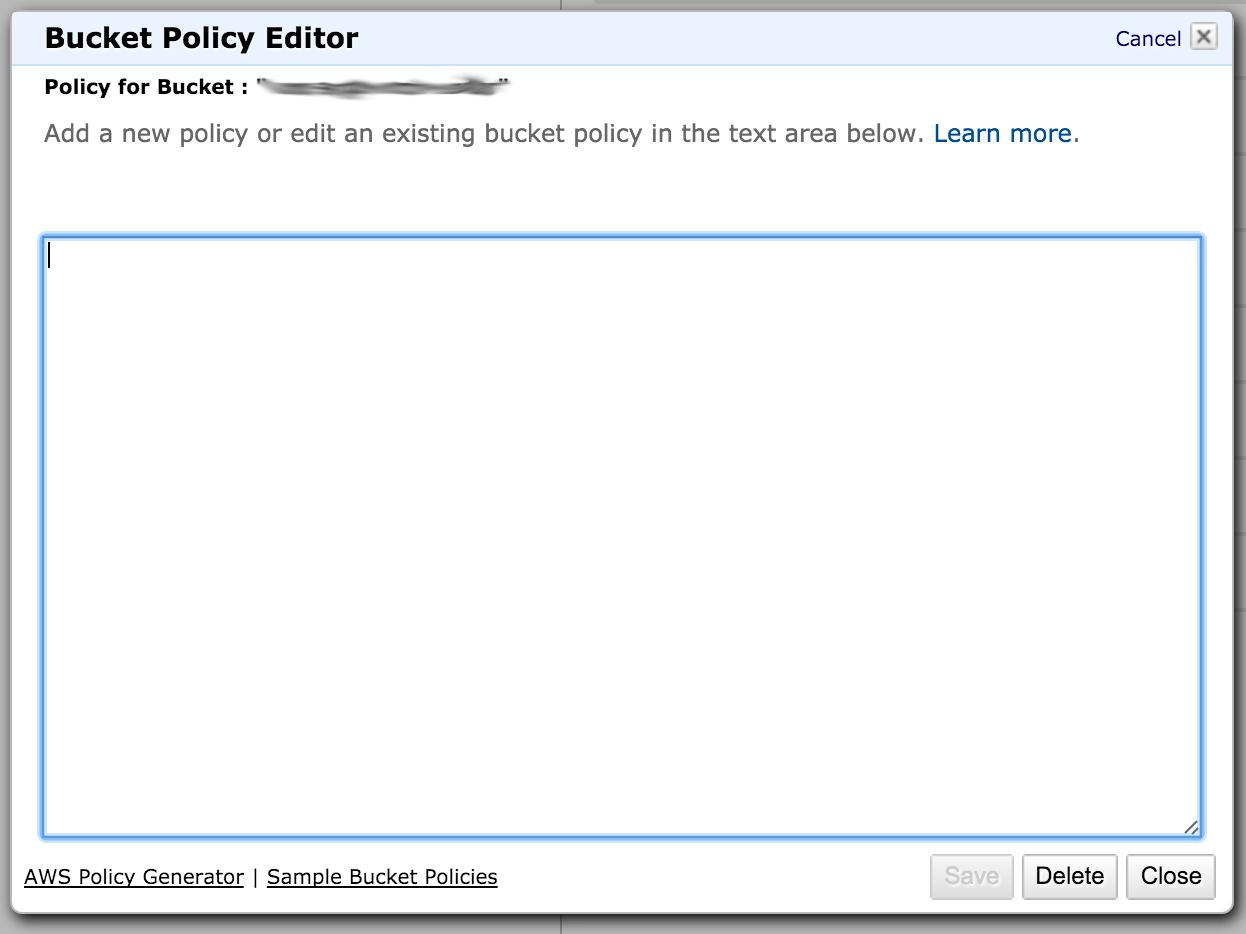 s3 edit bucket policy