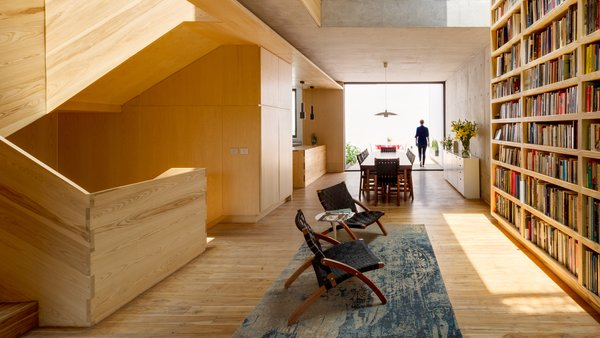 A Sculptural Wooden Staircase Steals the Show in This Mexico City Abode