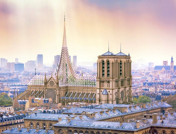 Architect Proposes a Solar-Powered Urban Farm For the Roof of Notre Dame Cathedral