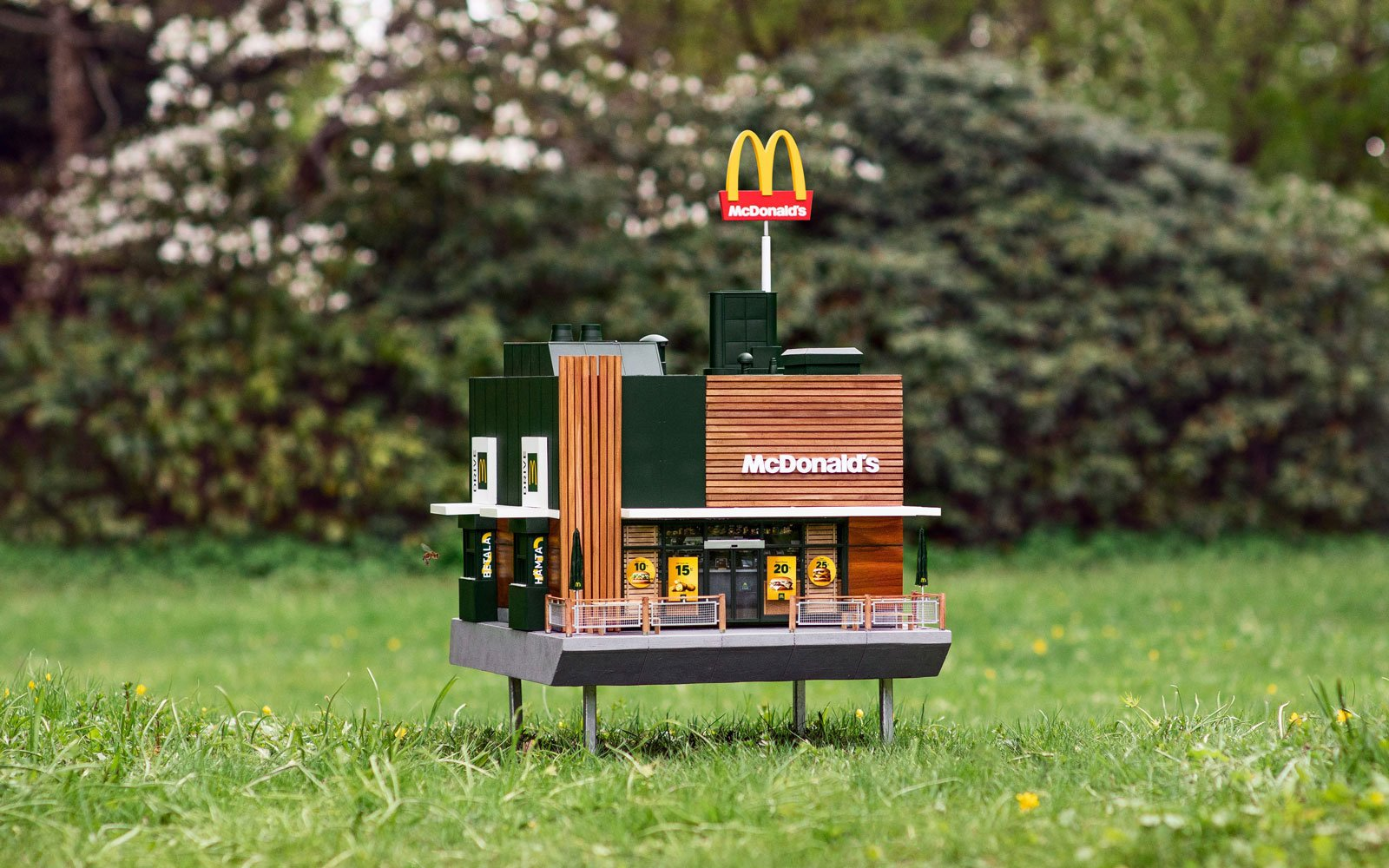 The mini McDonald's is painstakingly crafted down to the smallest detail.