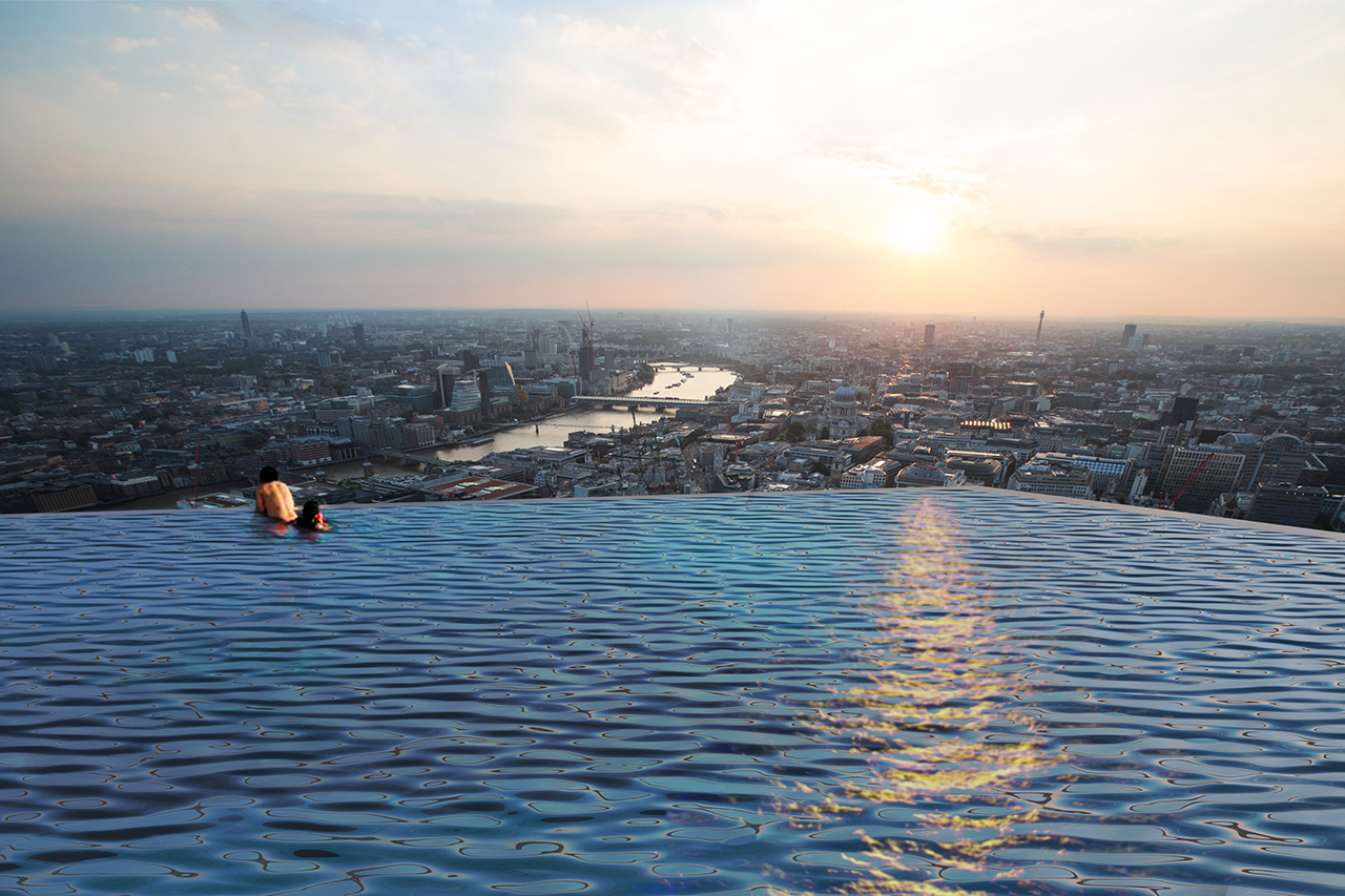 The World's First 360-Degree Infinity Pool Is Proposed to Tower Above London