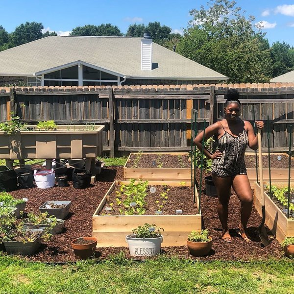 Jasmine Jefferson founded Black Girls With Gardens and Black Men With Gardens to represent, educate, and inspire people of color in the gardening world, and is soon launching a coach program.