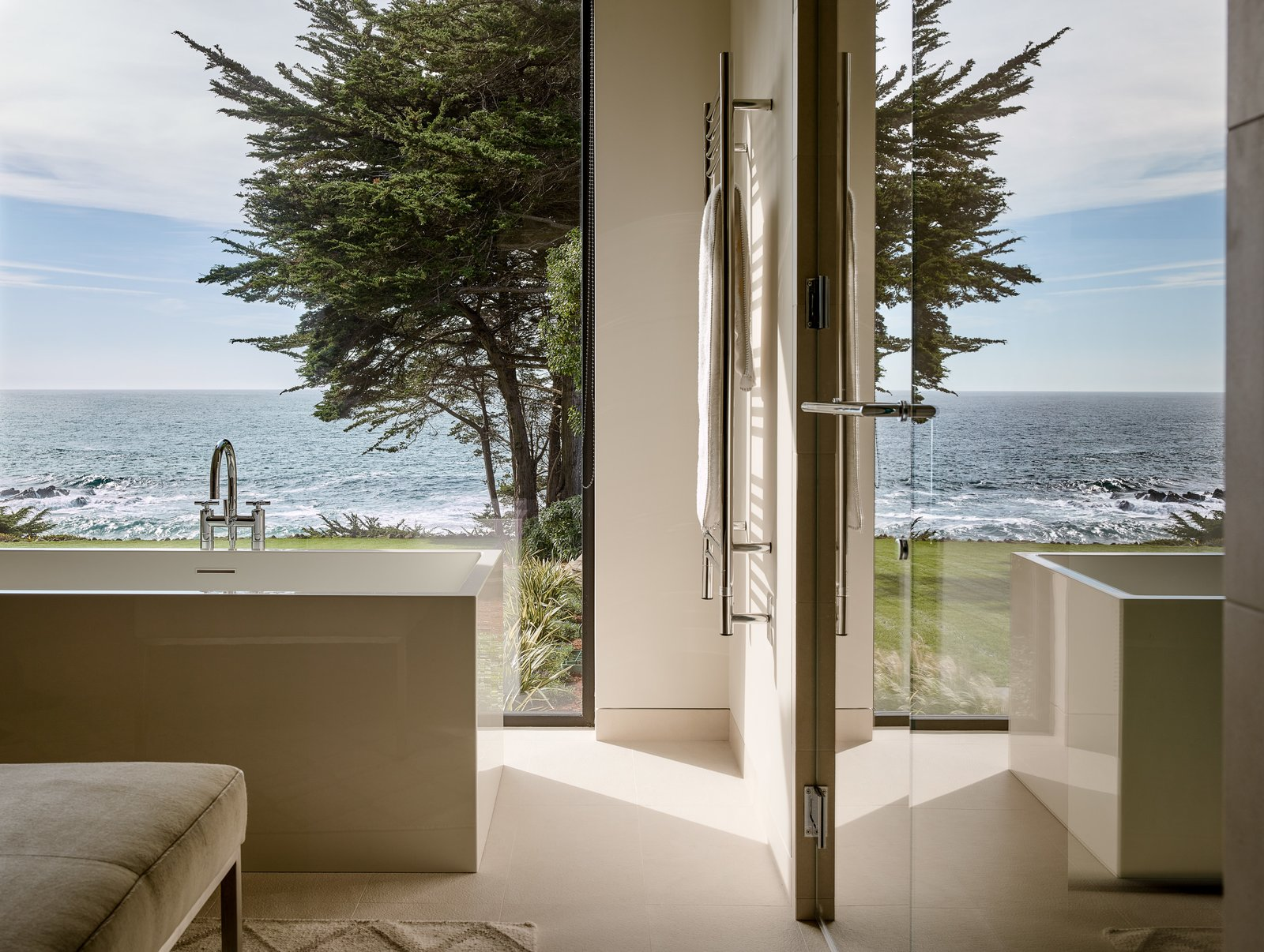 inside and out this renovated sea ranch retreat echoes its