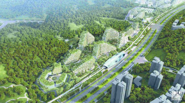A green city in china that will fight air pollution dwell for Liuzhou forest city