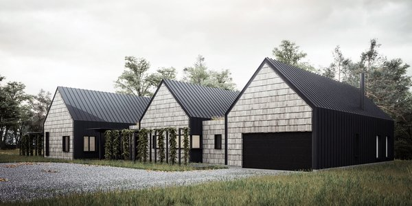 Render of house front.