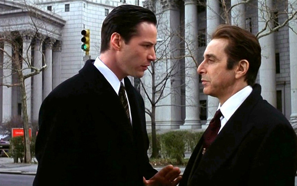 Keanu Reeves and Al Pacino in <em>The Devil's Advocate</em>