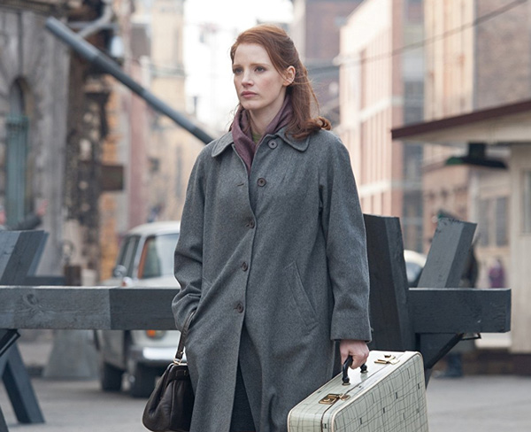 Jessica Chastain as the young Rachel Singer in <em>The Debt</em>