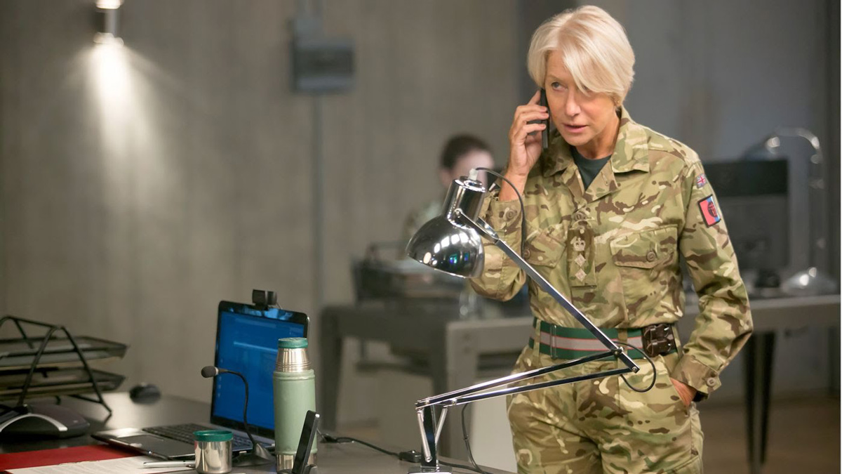 Helen Mirren commands in <em>Eye in the Sky</em>