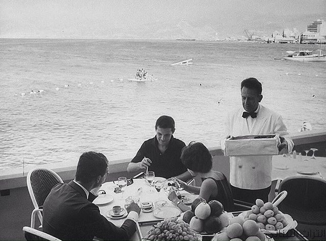 Lunch on the Mediterranean at La Gondola Restaurant in 1960