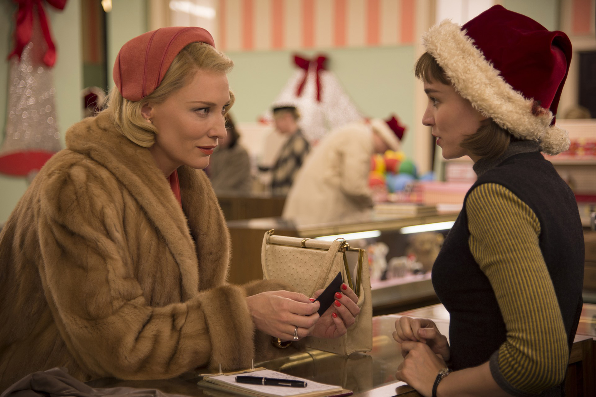 Cate Blanchett and Rooney Mara in <em>Carol</em>
