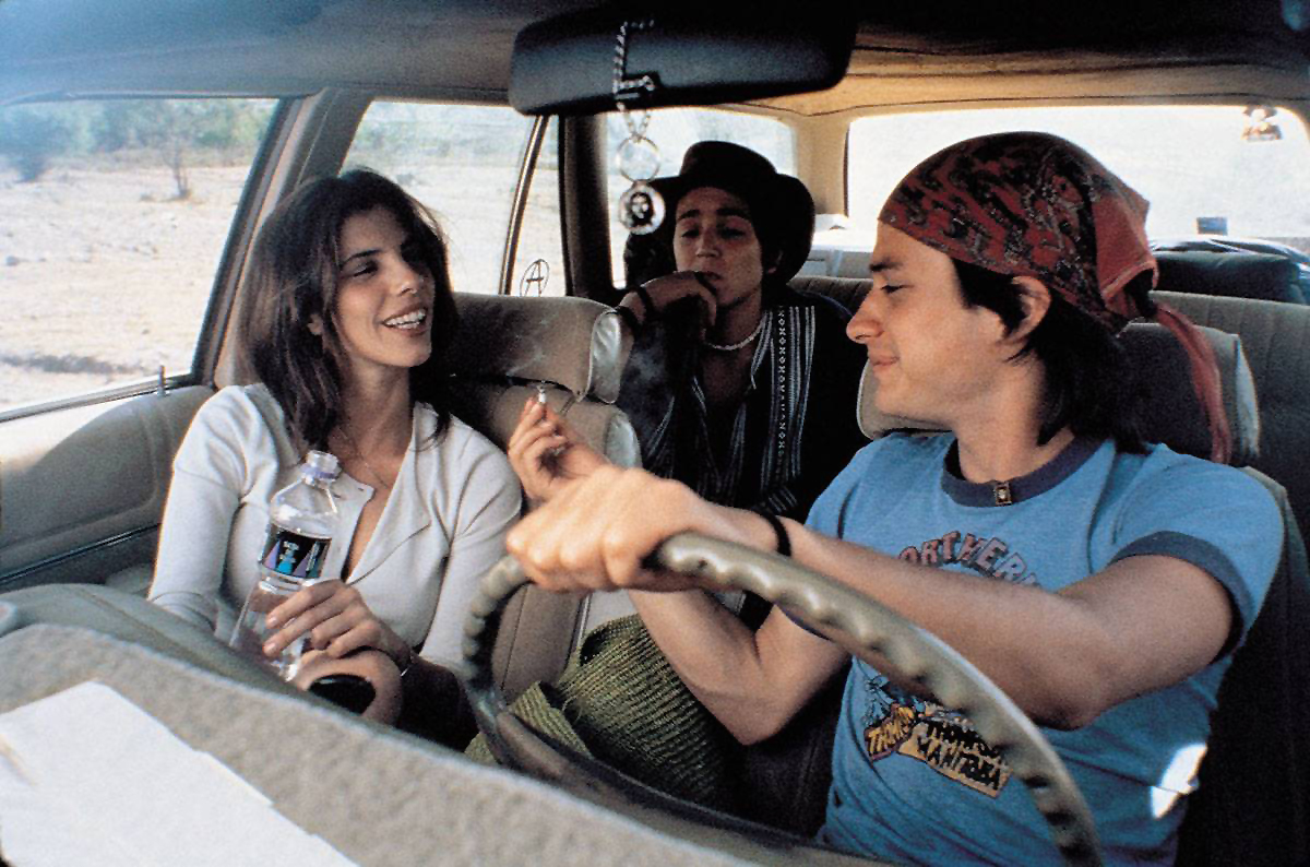 Maribel Verdú, Diego Luna, and Gael García Bernal in <em>Y Tu Mamá También</em>