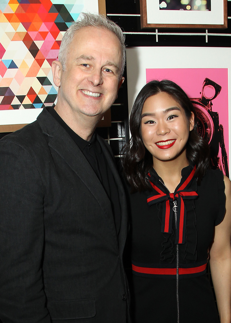 Esther Yoo (r) with director Dominic Cooke