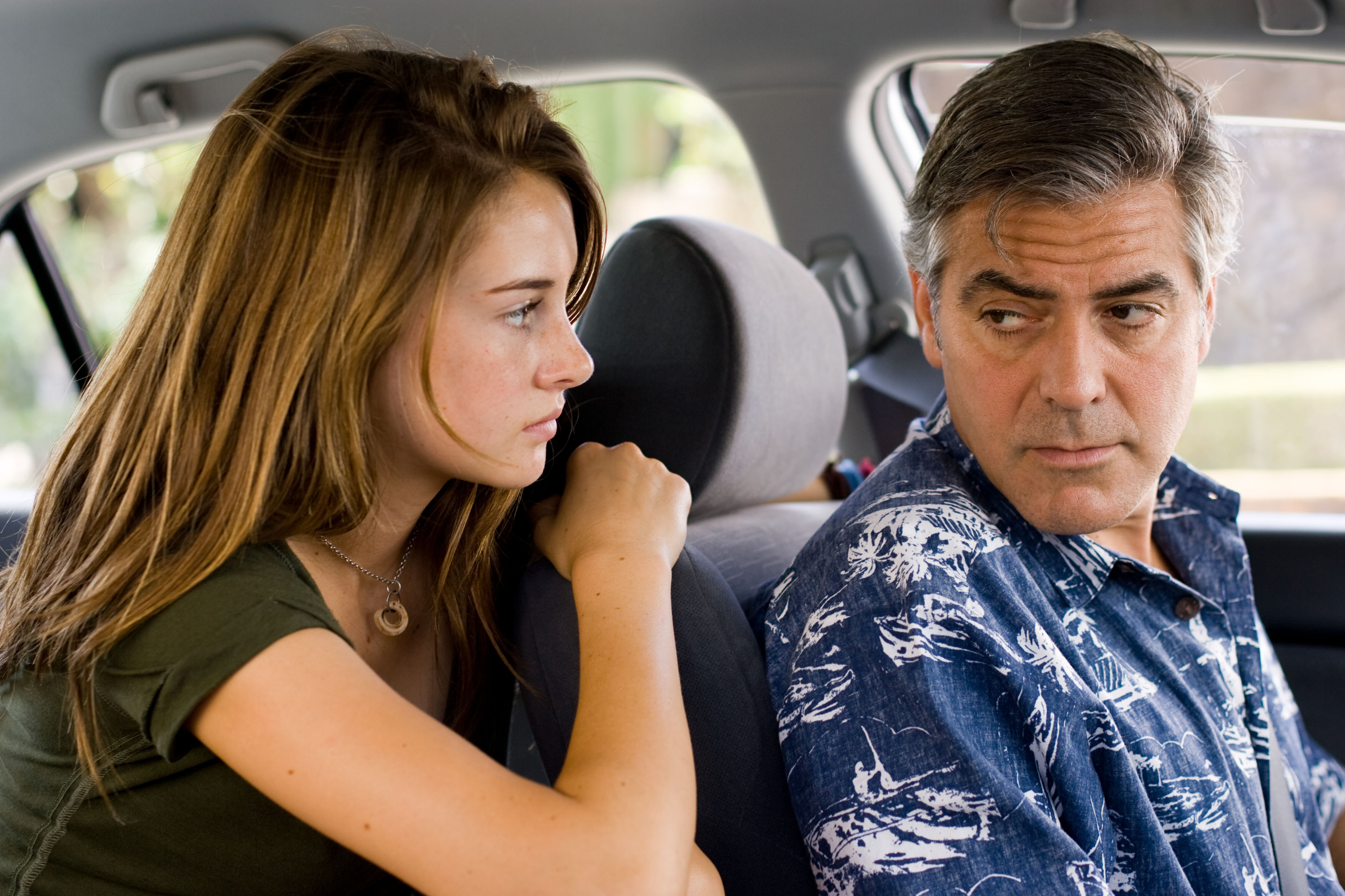 Shailene Woodley and George Clooney in <em>The Descendants</em>