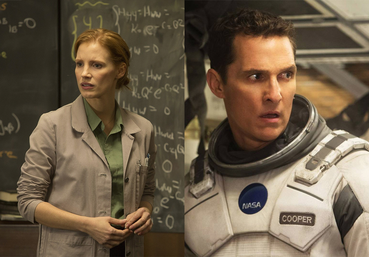 Jessica Chastain and Matthew McConaughey live in different worlds in <em>Interstellar</em>