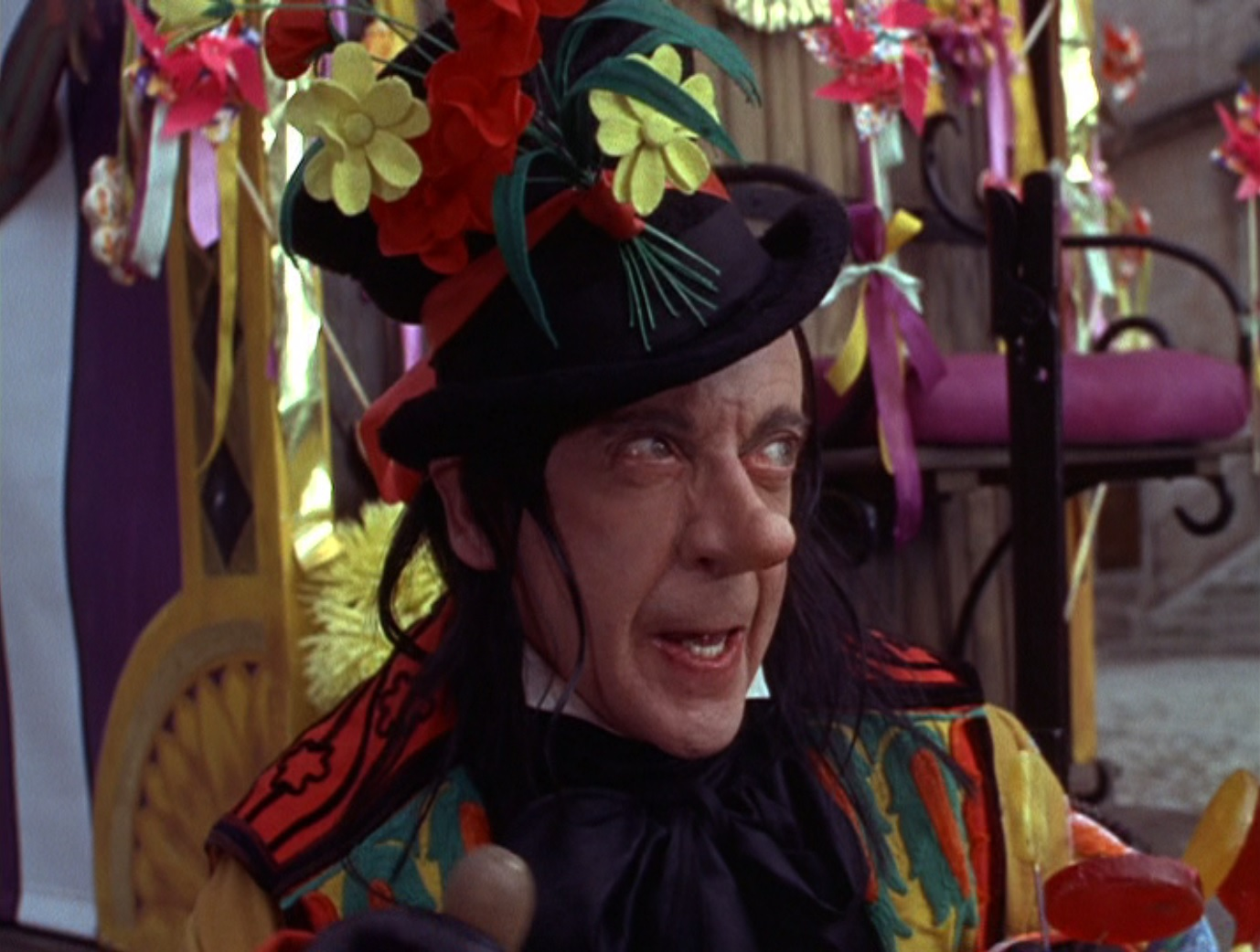 Robert Helpmann as the Child Catcher in <em>Chitty Chitty Bang Bang</em>