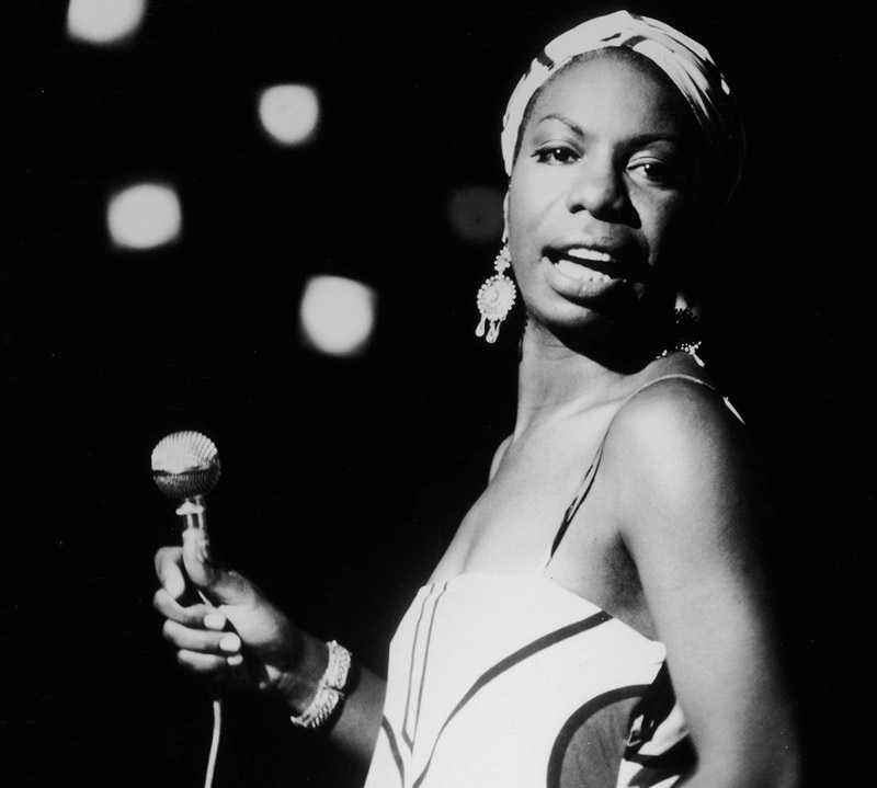 Nina Simone on stage in <em>What Happened, Miss Simone?</em>