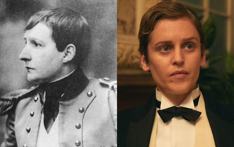Denise Gough (r) portrays Mathilde de Morny